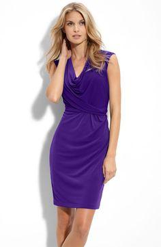 Cowl Jersey Dress