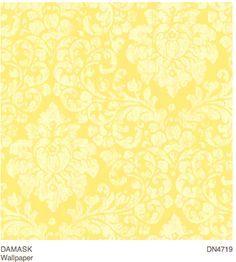 1000 images about bathroom decor on pinterest damask for Yellow wallpaper home decor