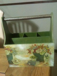 Caja para cubiertos Decoupage Elaborado por Adri.