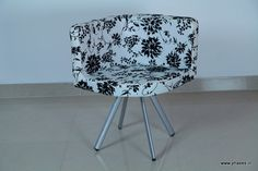 Modern chair with floral print