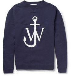 J.W.Anderson Printed Fleece-Backed Cotton-Jersey Sweatshirt           | MR PORTER