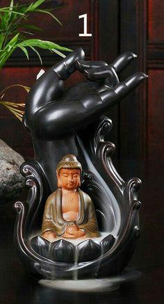 Creative Ceramic Incense Burner Smoke Backflow Censers Incense Coil Line Censer Buddha with Supplies Home Furnishing Articles - Hespirides Gifts - 2 Baby Buddha, Little Buddha, Buddha Art, 3d Prints, Incense Holder, Incense Burner, Sculpture Art, Creative, Baby Massage