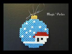 Boule de Noël maison enneigée  : Accessoires de maison par magic-perles