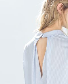 Image 4 of STRIPED SHIRT WITH BACK SLIT from Zara