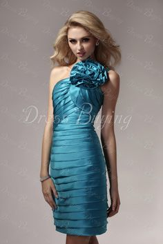 Gorgeous Ruched Tiered Sheath  Knee-length Evening Cocktail Dress    ——   US$ 101.99