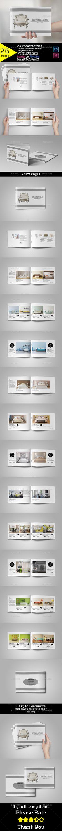 A4 Interior Catalog - Brochures Print Templates