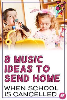 8 Easy Music Ideas To Send Home When School Is Cancelled -These ideas are perfect for your preschool through graders. Easy to do and will help your child make connections to other subject areas. Preschool Music, Music Activities, Teaching Music, Listening To Music, Movement Activities, Teaching Orchestra, Holiday Activities, Teaching Resources, Music Classroom