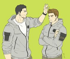 Chris y Piers Anime Dad, Anime Guys, Game Character, Character Design, The Evil Within Game, Resident Evil Anime, Fanart, Chibi, Funny Comics