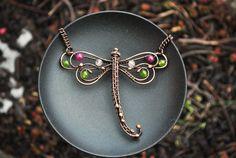 Dragonfly Necklace by twistedjewelry.deviantart.com on @DeviantArt