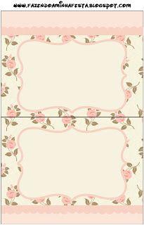 Floral Rosa - Kit Completo com molduras para convites, rótulos para guloseimas, lembrancinhas e imagens!