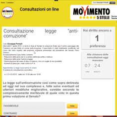 That's who is The Movement 5 Stars, is the only political movement in the world to be democratically directives to their representatives, on decisions to be taken in Parliament. 31/03/2015 Today I voted for the umpteenth time. THIS IS THE ONLY TRUE DEMOCRACY. Ecco chi è Il Movimento 5 Stelle, è l'unico movimento politico al mondo che da democraticamente le direttive ai propri rappresentanti, sulle decisioni da prendere in Parlamento.