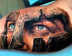 Realistic Tattoo 3d Sparta