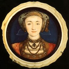 "Anna von Kleves, or Anne of Cleves (1515-1557) married Henry VIII in 1540 but was persuaded to accept an annulment that same year. She lived independently at Richmond & Bletchingley, properties granted to her in a generous settlement & was thereafter known as ""the king's sister."" A false rumor circulated in 1541, that she'd given birth to a child. She remained involved with her former step-children & was present at many state occasions. When she died she was buried in Westminster Abbey. Portret, Kunst, Medaillons, Engeland, Londen, Geschiedenis"