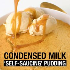 Condensed milk and retro puddings are a match made in heaven - add this delight to your dessert recipe repertoire. #condensedmilk #pudding #puddingrecipes #dessert #baking #sweets #australia #australian #australianrecipes Gluten Free Recipes, New Recipes, Sweet Recipes, Recipies, Cooking Recipes, Pudding Recipes, Dessert Recipes, Self Saucing Pudding, Condensed Milk Recipes