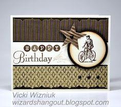 Wizard's Hangout: Masculine birthday card
