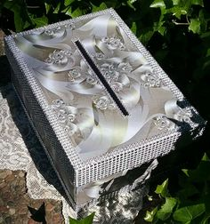 A much better photo of one of the OOAK Bridal-Wedding Gift Boxes I offer.  Please see my Etsy site for more info or to purchase...and/or order your OOAK.  :)