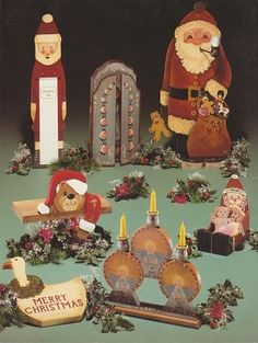 """Santas, ETC "" by Susan Jill Hall & Margaret Wilburn, 1984 published by Susan Jill Publications. offered by Out of the Conex on Etsy #tolepainting"