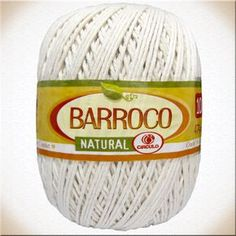 Barbante Barroco Natural número 10 usar agulhas crochê 5 a 5,5 mm e tricô 6,5 a 7,5 mm
