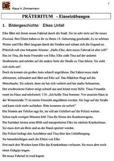 Deutsch als Fremdsprache DaF DaZ Grammatik - Präteritum