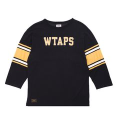 Wtaps QB T-Shirt 03 - Premium cotton Q.B. T-Shirt 03 from Wtaps.  The classic american football inspired jersey features a bold graphic print at the chest and back, printed stripes at the sleeves, and of course includes that Wtaps branding throughout we all love so much.