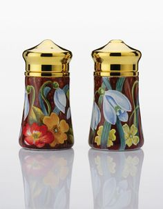Elliot Hall Snowdrops Salt  Pepper Pots