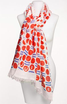 Cascading Dot linen scarf by Juicy Couture