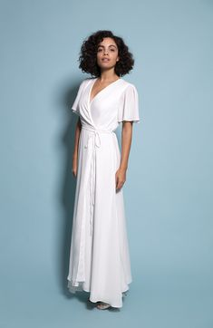Florence wrap dress now in Ivory! Crepe Fabric, Lining Fabric, Pretty Cool, How To Look Pretty, Tea Length Bridesmaid Dresses, Alternative Wedding Dresses, 4 Inch Heels, Bra Sizes, New Dress
