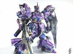 Custom Build: MG 1/100 MSN-04 Sazabi Ver. Ka [Killer Grape] - Gundam Kits Collection News and Reviews