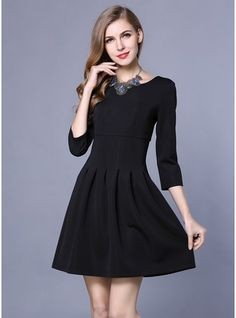 bc637cf2a8 Love this Black Pleated A-Line Dress on  zulily!  zulilyfinds Im Not