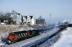 Another shot from a New Years weekend trip into Ontario in 1981. On January 4th, 2 CN units were put on a westbound VIA train from Toronto. Riders better hope that the steam generator car continued pumping out the steam, January 4th, 1981 is the date of the coldest temperature on record at Toronto Pearson airport.  Photographer: Dave Beach [20] (more) (contact)  Date:01/04/1981 (search) - See more at: http://www.railpictures.ca/?attachment_id=19596#sthash.Py1wXVVP.dpuf