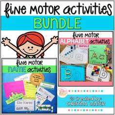 Fine Motor Alphabet Activities and Editable Name Activities Letter Identification Activities, Name Activities, Preschool Learning Activities, Alphabet Activities, Motor Activities, Hands On Activities, Fun Learning, Tracing Practice Preschool, Preschool Phonics