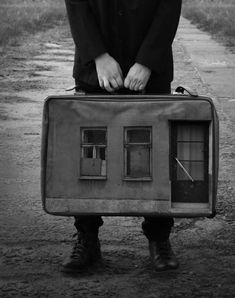 Dark and Surreal Photo Manipulations by Mirek aka. Toy Theatre, Presentation Layout, Surrealism Photography, Surreal Art, Photomontage, Photo Manipulation, Insta Art, Suitcase, Cool Photos
