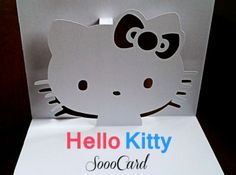It's a Hello Kitty card I made for my friend's birthday. You can download the pattern for personal use. http://sooocard.deviantart.com/art/Free-Hello-Kitty-Pop-Up-Card-Pattern-Download-433304504