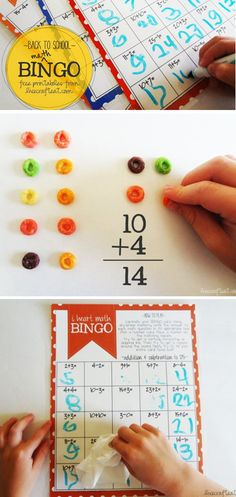 {Back-to-School Bingo} Free Math Printable *Love the simplicity of this...