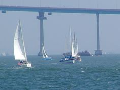Have some really great memories sailing in the San Diego Bay under the Coronado bridge :)