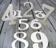 Unfinished  Wooden Wall Unpainted Letters Numbers - ABC Wall- Mixed Fonts and Sizes- Room decor- Table numbers- IN STOCK. $24.00, via Etsy.