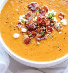 Soupe au butternut squash et bacon