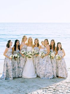 A Laguna Beach winter wedding on the beach. See how this bride styled a winter wedding with white florals, string lights and modern elements. Winter Bridesmaid Dresses, Winter Bridesmaids, Designer Bridesmaid Dresses, Blue Bridesmaids, Wedding Dress Styles, Essential Oil Blends, Wedding Tips, Fashion Dresses, Celebrities