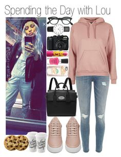 """• Spending the Day with Lou"" by dianasf ❤ liked on Polyvore featuring River Island, Topshop, Filling Pieces, Mulberry, Casetify, Wet n Wild, J.Crew, Maybelline and louteasdale"
