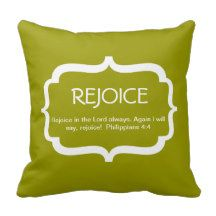Green Pillow with Verse