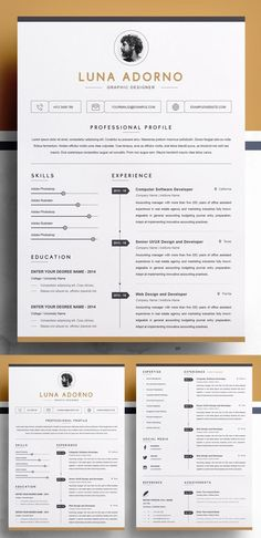30 Professional CV / Resume Templates with Cover Letters - Resume Template Ideas of Resume Template - Professional & Clean Resume Template Resume Cover Letter Template, Simple Resume Template, Creative Resume Templates, Free Cv Template, Storyboard Template, Cv Finance, Conception Cv, Basic Resume, Resume Cv