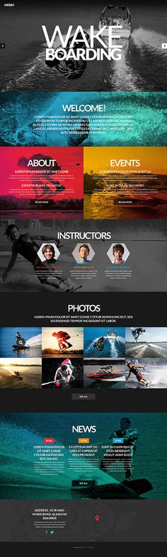 Beautiful design, love the colors and heavy use of images without overwhelming…