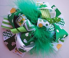 Hey, I found this really awesome Etsy listing at https://www.etsy.com/listing/118123406/boutique-funky-fun-st-pattys-owl-hair