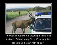 funny+pictures+of+kids+deer+hunting | funny hunting moose policeman picture - He was about five ten, wearing ...
