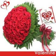 Bunch Of 100 Roses For Valentine Day