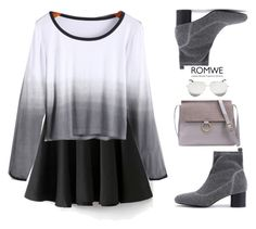 """""""Ombre"""" by gabygirafe ❤ liked on Polyvore featuring Victoria Beckham, GetTheLook, romwe and lovely"""