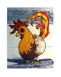 Alabama Chicken Illustration, print 11X14 via Etsy