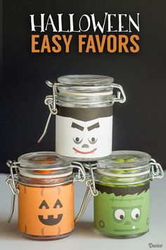 Crazy easy last minute Halloween Favors! Includes three free printables!