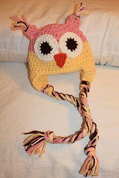 my precious owl hat!       Crochet