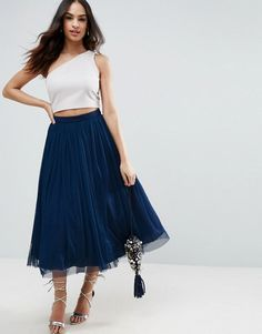 2645b444aa Discover Fashion Online A Line Skirts, A Line Skirt Midi, White Tulle Skirt,